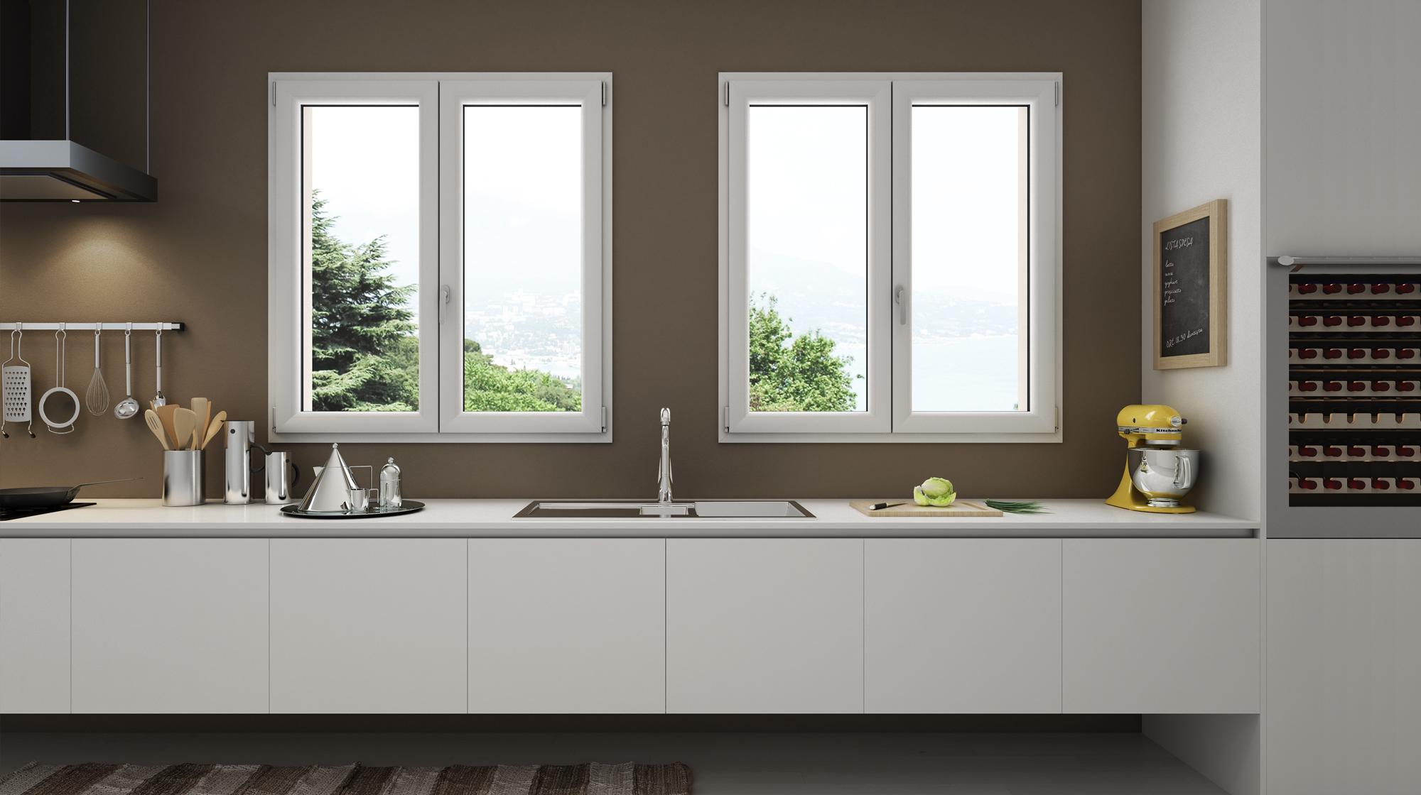 Finestre americane with finestre americane - Casa americana in legno ...