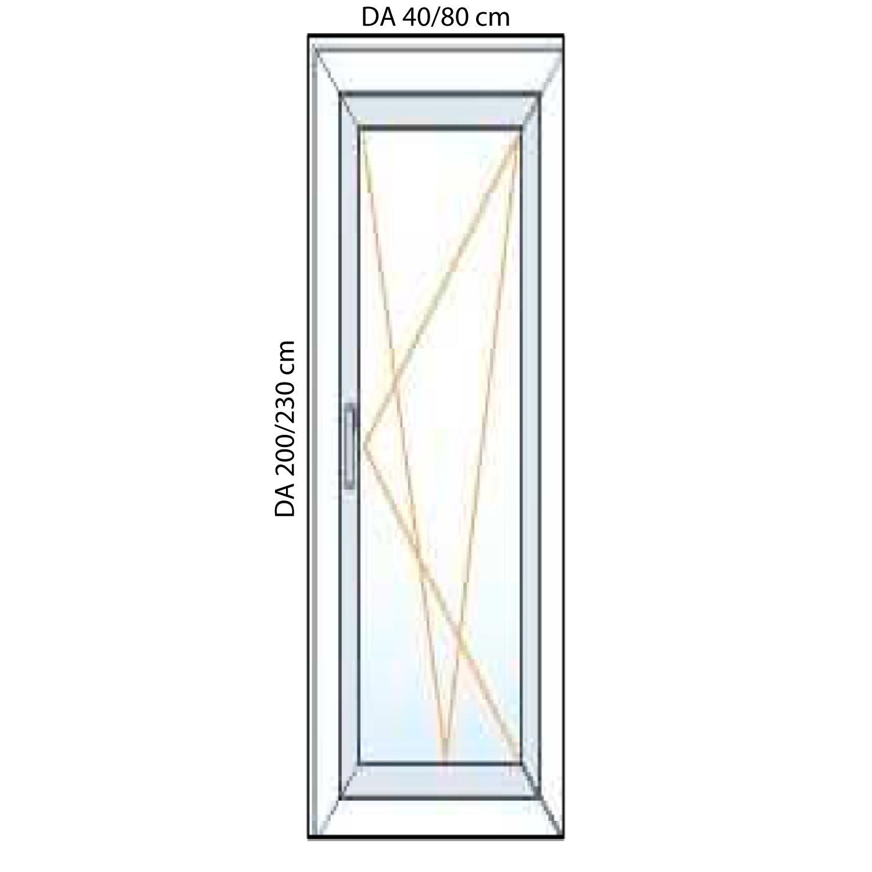 portefinestre in pvc per balconi 1 anta generaltek