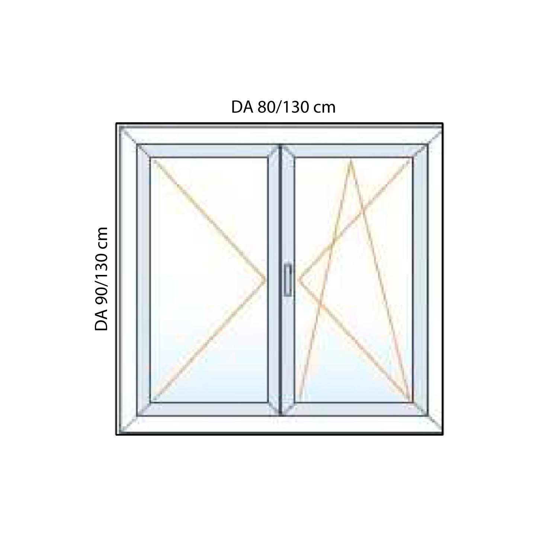 Finestre in pvc 2 ante generaltek - Porta finestra misure ...