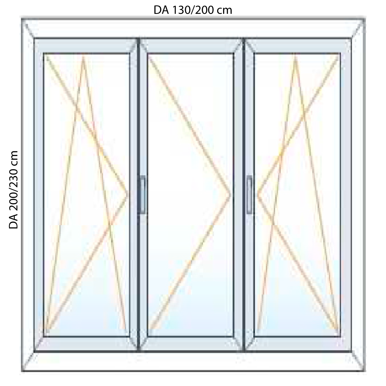 Portefinestre in pvc per balconi 2 ante generaltek - Porta finestra misure ...